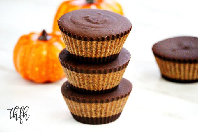Gluten-Free Vegan Pumpkin Spice Almond Butter Cups | The Healthy Family and Home