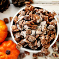 "Gluten-Free Vegan Pumpkin Spice ""Puppy Chow"" Muddy Buddies 