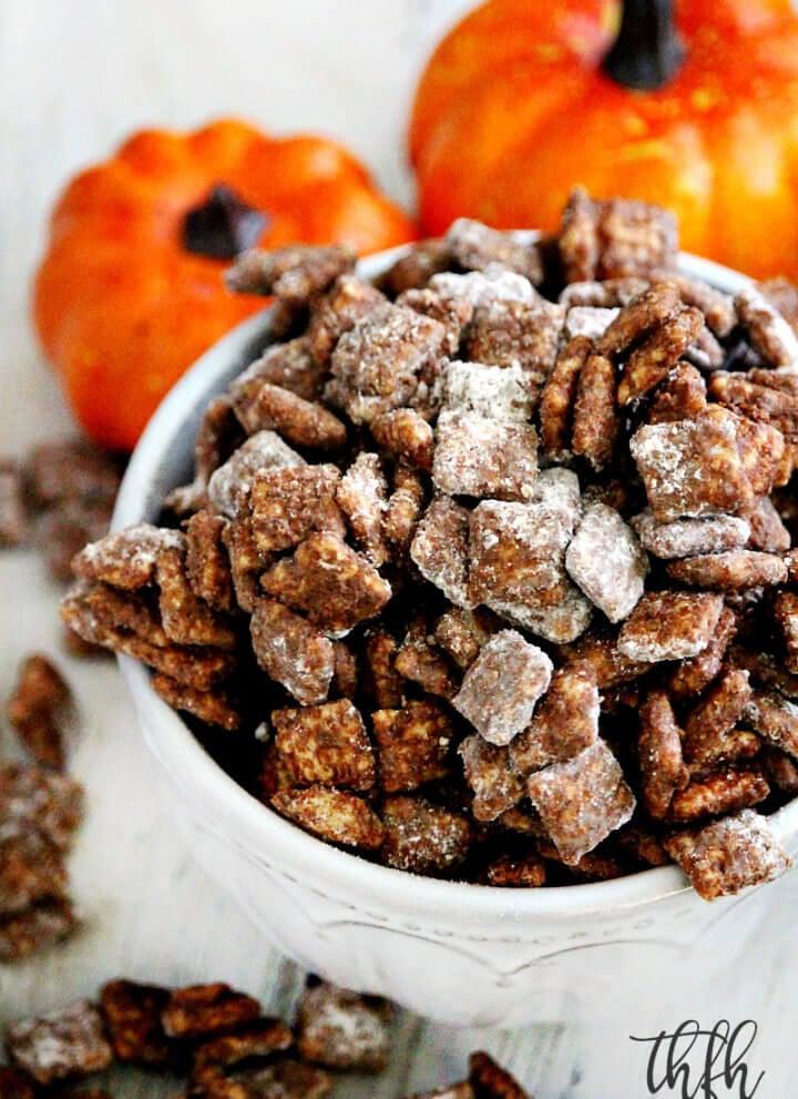 """Gluten-Free Vegan Pumpkin Spice Puppy Chow """"Muddy Buddies"""""""