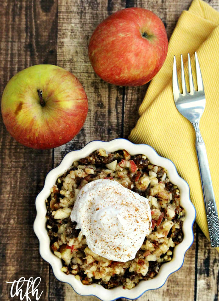 Gluten-Free Vegan Raw Apple Pie Tart