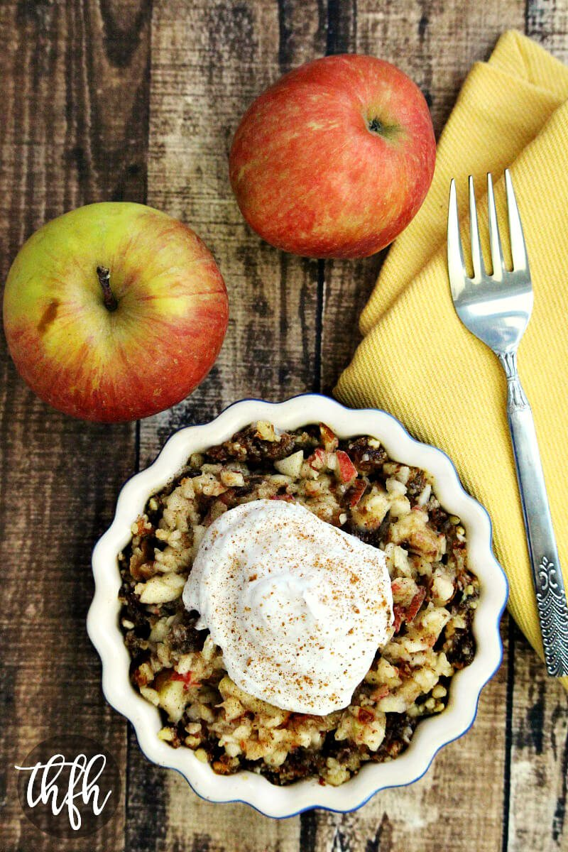 Gluten-Free Vegan Raw Apple Pie Tart | The Healthy Family and Home