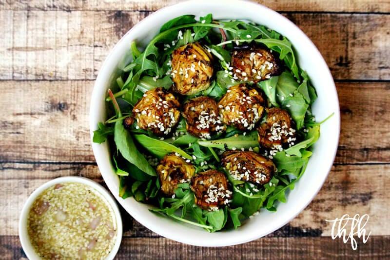 Vegan Roasted Artichoke Salad with Sesame Seed Vinaigrette | The Healthy Family and Home