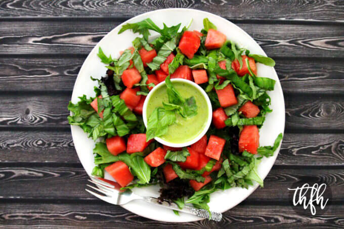 Watermelon Basil Salad with Fresh Basil Vinaigrette | The Healthy Family and Home