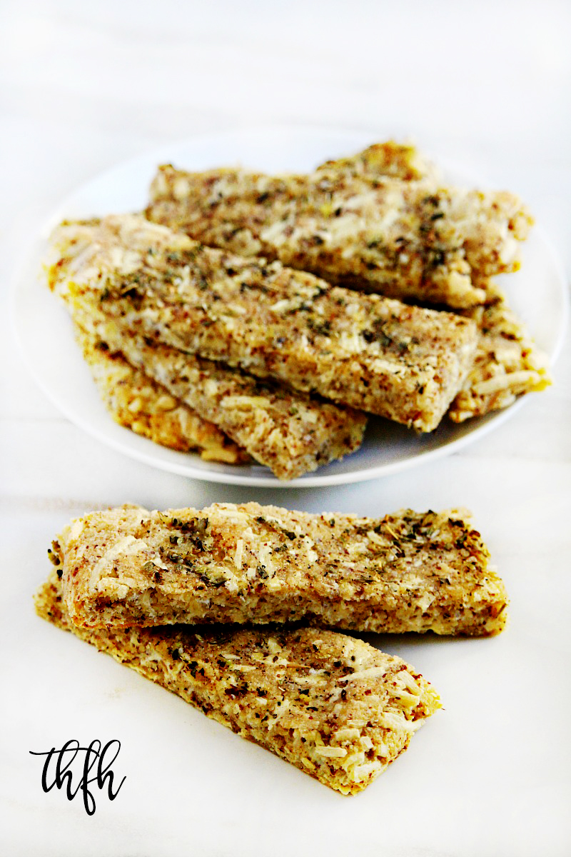 "Gluten-Free Vegan Flourless ""Cheesy"" Garlic Breadsticks 