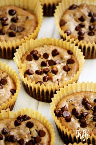 Gluten-Free Vegan Flourless Pumpkin Spice Chocolate Chip Blender Muffins | The Healthy Family and Home