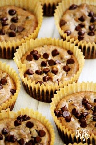 Gluten-Free Vegan Flourless Pumpkin Spice Chocolate Chip Blender Muffins