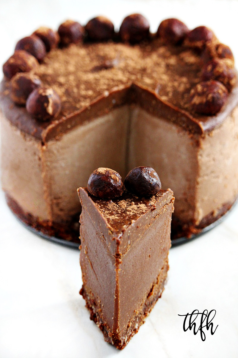 Gluten-Free Vegan No-Bake Chocolate Peanut Butter Cheesecake | The Healthy Family and Home