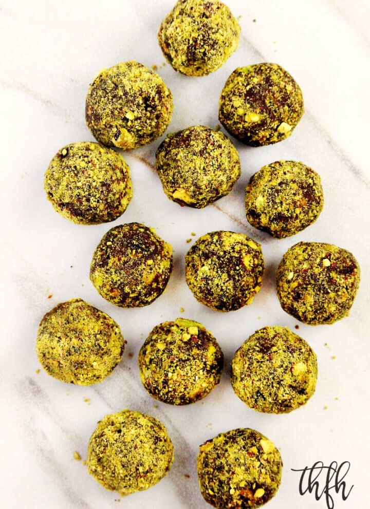 Lectin-Free Vegan Chocolate Avocado Pistachio Truffles | The Healthy Family and Home