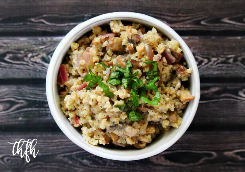 Lectin-Free Vegan Mushroom Cauliflower Rice Risotto | The Healthy Family and Home