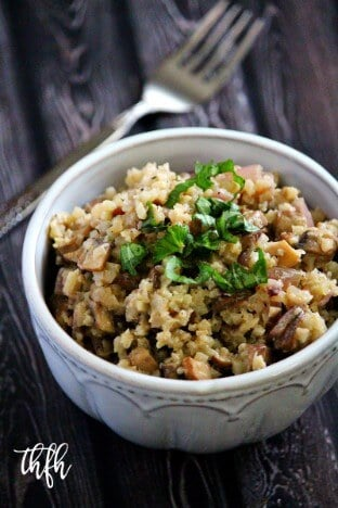 "Lectin-Free Vegan Mushroom Cauliflower Rice ""Risotto"""