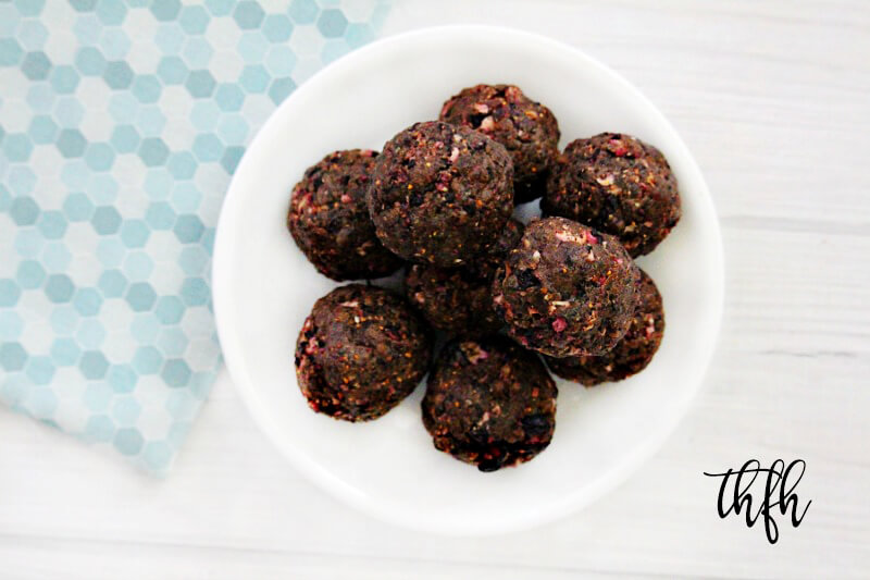 Gluten-Free Vegan Dried Blueberry Protein Energy Balls | The Healthy Family and Home
