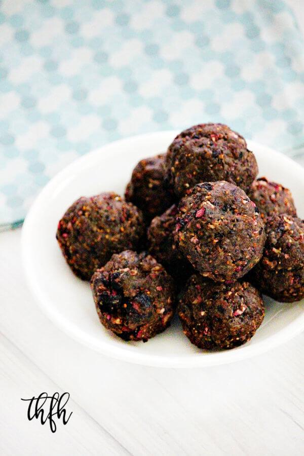 Gluten-Free Vegan Dried Blueberry Protein Energy Balls