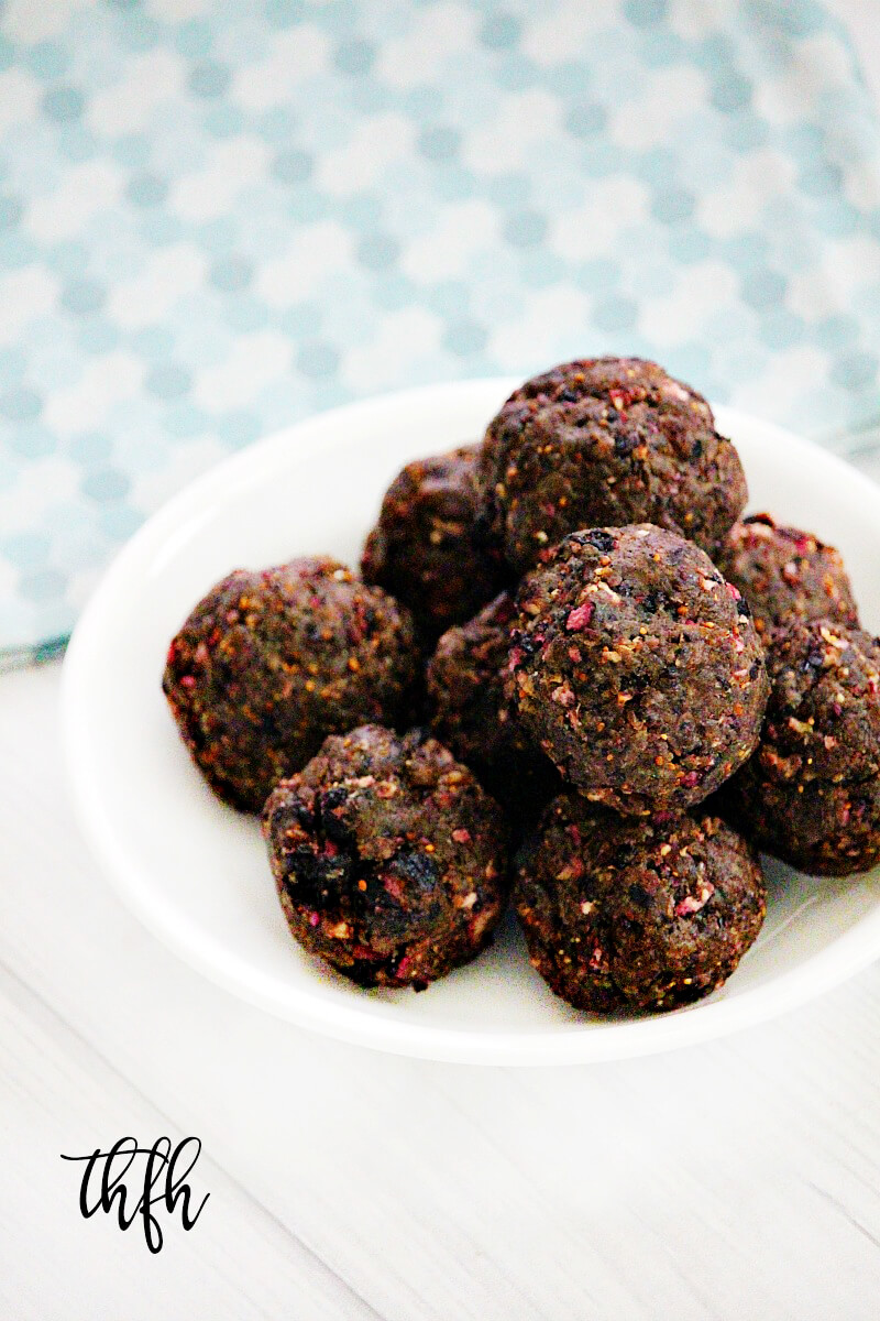 Gluten-Free Vegan Dried Blueberry Energy Balls | The Healthy Family and Home