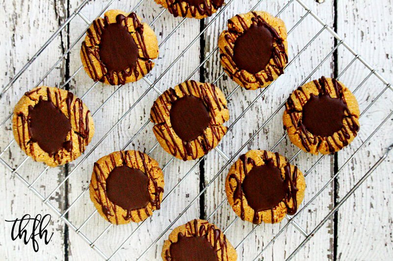Gluten-Free Vegan Flourless Chocolate Peanut Butter Thumbprint Cookies | The Healthy Family and Home