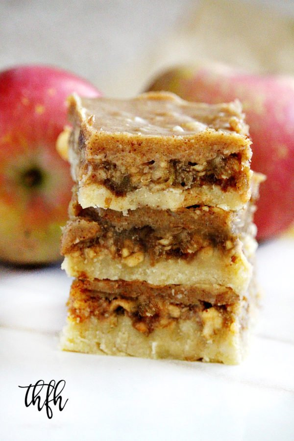 Gluten-Free Vegan No-Bake Caramel Apple Bars