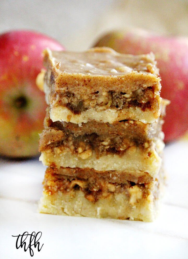 Gluten-Free Vegan No-Bake Caramel Apple Bars