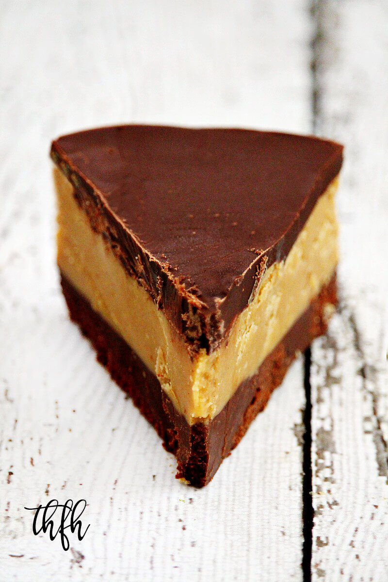 Gluten-Free Vegan No-Bake Peanut Butter Cup Pie is an easy recipe made with healthy ingredients and it's vegan, gluten-free, dairy-free, egg-free, no-bake and no refined sugar | The Healthy Family and Home #peanutbutter #peanutbutterpie #nobakepeanutbutterpie #easy #healthy #vegan #glutenfree #nobakedessert #recipe #healthyrecipe #chocolate #nobake #peanutbutterdessert #chocolatedessert #cleaneating #eggfree
