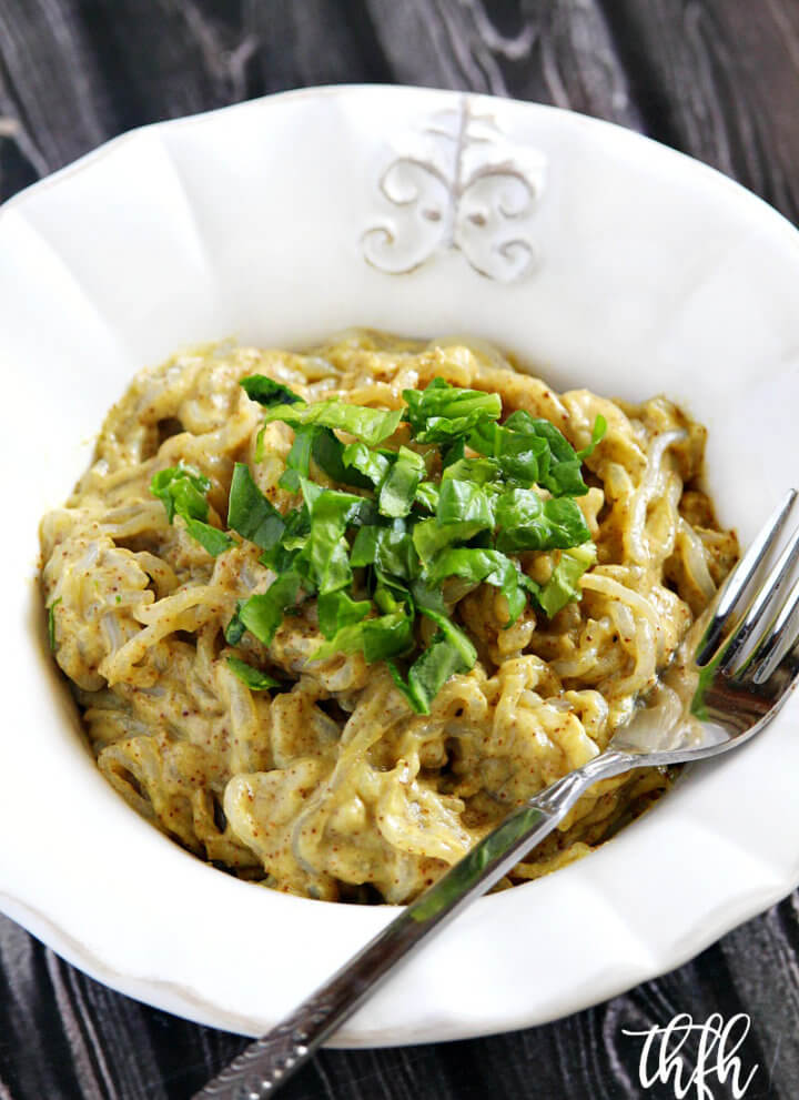 Lectin-Free Vegan Shirataki Angel Hair Pasta with Creamy Chipotle Avocado Sauce