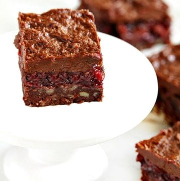 Gluten-Free Vegan Raw No-Bake Black Forest Bars | The Healthy Family and Home