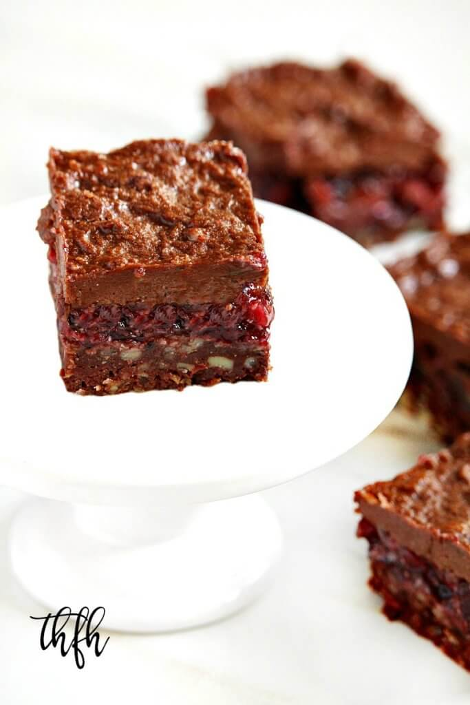 Gluten-Free Vegan Raw No-Bake Black Forest Bars