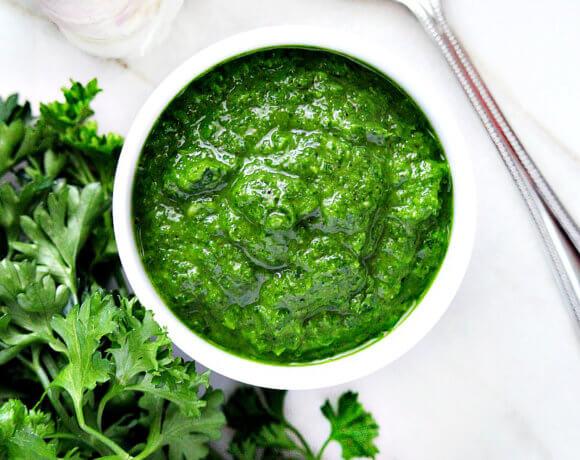 Clean Eating Vegan Chimichurri Sauce