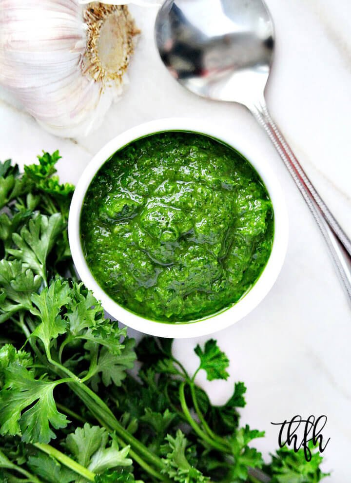 Clean Eating Vegan Chimichurri Sauce