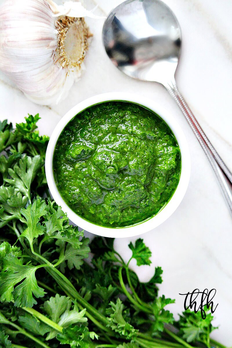 Clean Eating Vegan Chimichurri Sauce | The Healthy Family and Home
