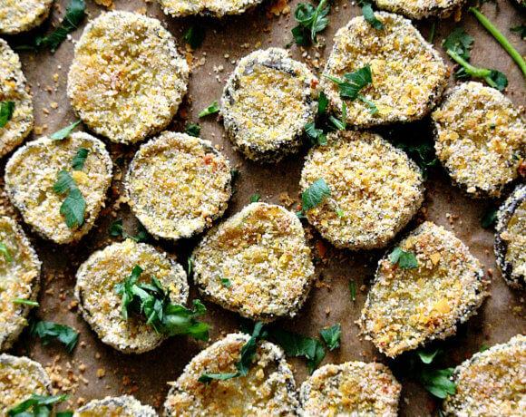 """Gluten-Free Vegan Oven Baked """"Fried"""" Pickles"""