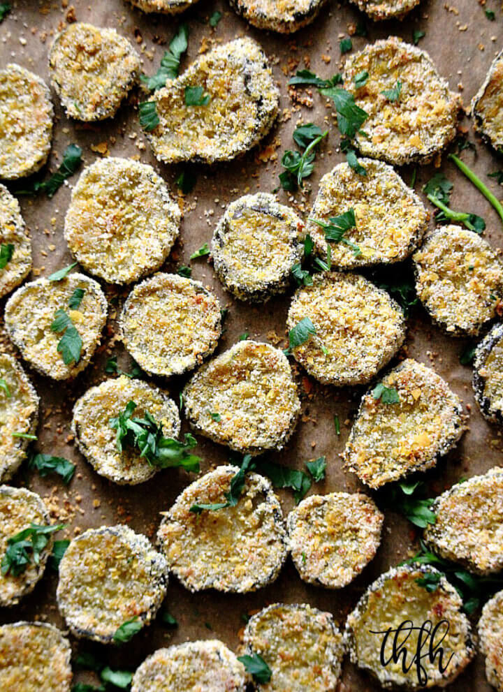 "Gluten-Free Vegan Oven Baked ""Fried"" Pickles"