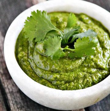 Lectin-Free Vegan Cilantro Pesto | The Healthy Family and Home