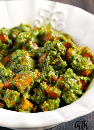 Lectin-Free Vegan Cilantro Pesto Sweet Potato Salad | The Healthy Family and Home