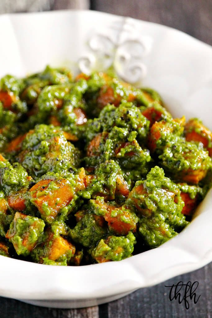 Lectin-Free Vegan Cilantro Pesto Sweet Potato Salad