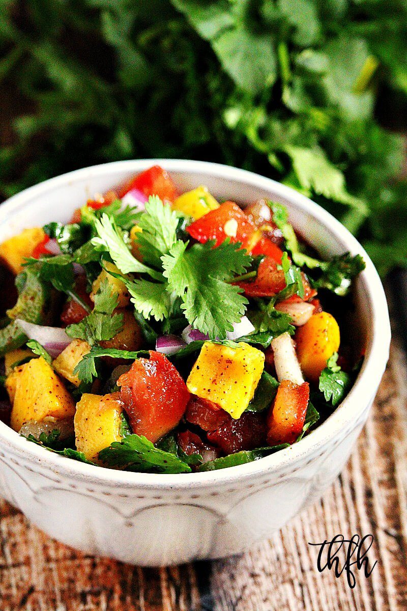 Spicy Mango and Lime Chunky Salsa | The Healthy Family and Home
