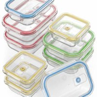 18 Piece Glass Food Storage Containers with Locking Lids - Air-Tight + BPA Free