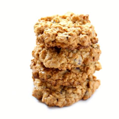 Gluten-Free Vegan Peanut Butter Chocolate Chip Oatmeal Cookies